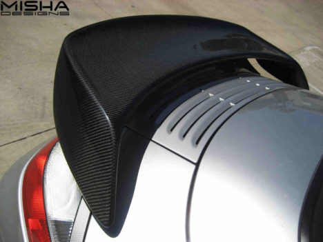 Misha Design Porsche 996 Turbo GT2 wing in carbon fiber on
