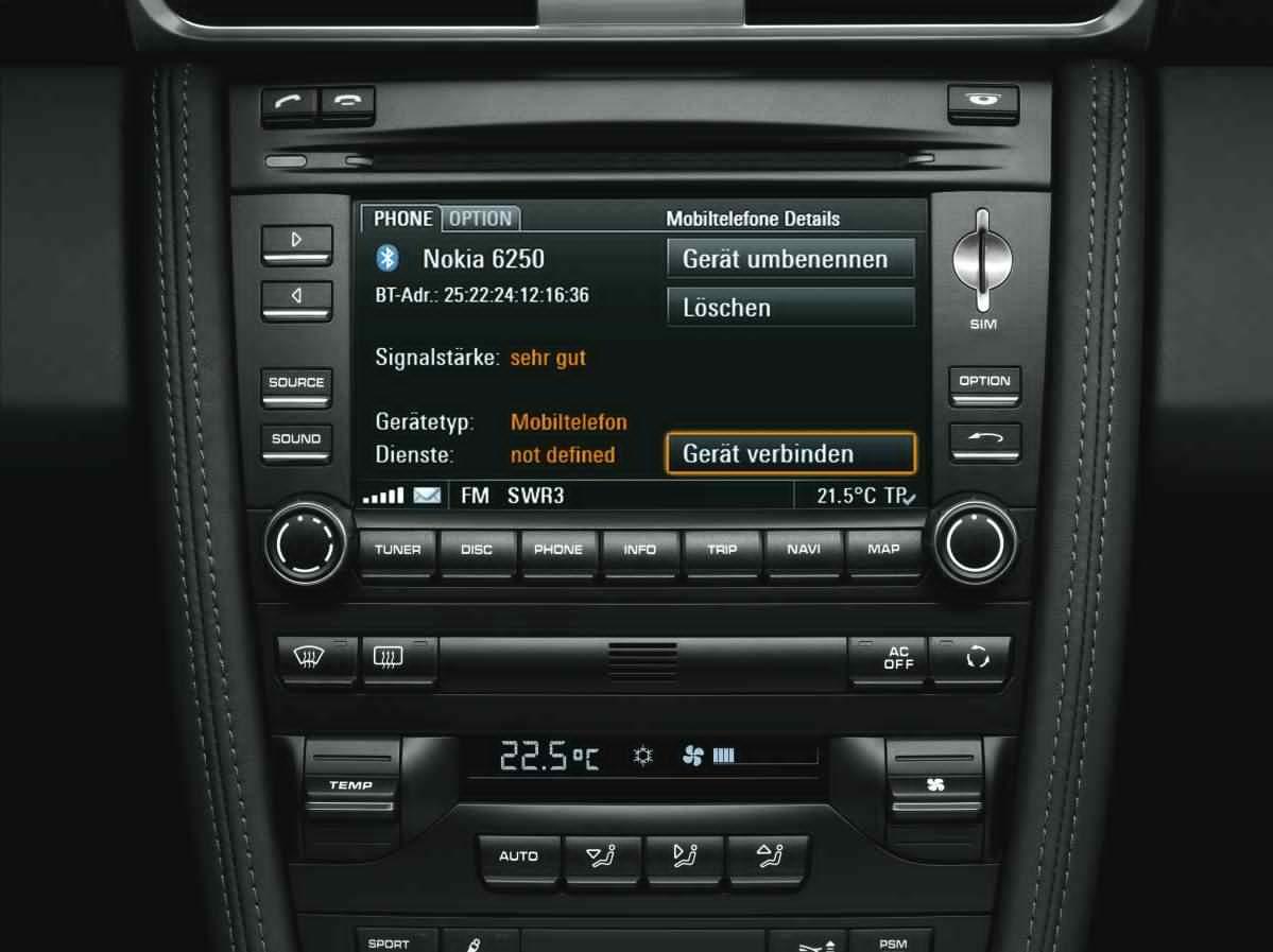 Mobile Phone Preparation for 911 (997 II) - Porsche 911 ...